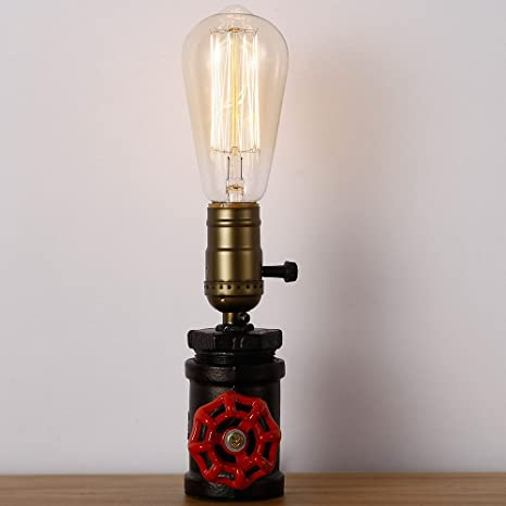 E27 Bulb Water Pipe lamp Light Industrial Steampunk Metal Desk Table Home  new
