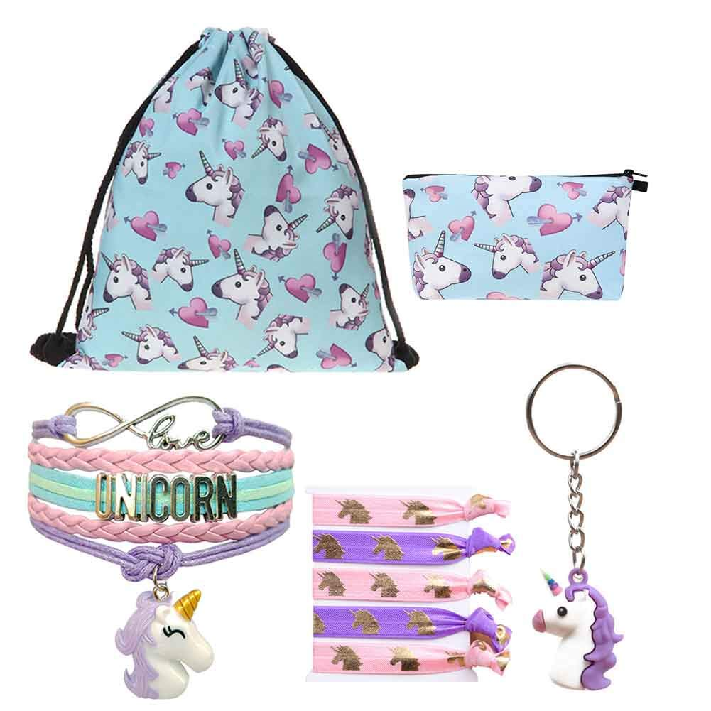 Unicorn Gifts – Drawstring Bag|Girls Bag|Necklace|Bracelet|Hair Ties|Keychain