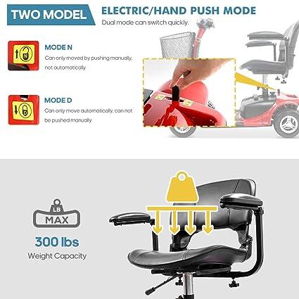 Amazon.com: Furgle - Patinete eléctrico de 4 ruedas para ...