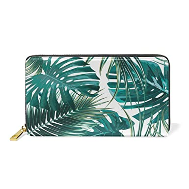 Amazon.com: Tropical Palm And Banana Leaves - Cartera de ...