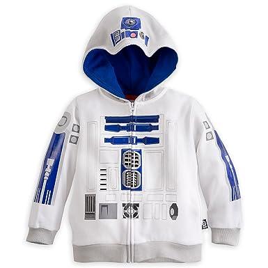 Disney Store Star Wars R2 D2 Costume Hoodie Sweatshirt Jacket Size Large 9 10