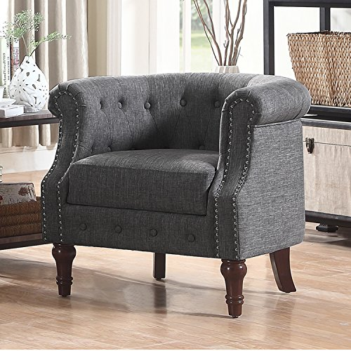 Rosevera C21 Barrel Chair, Grey