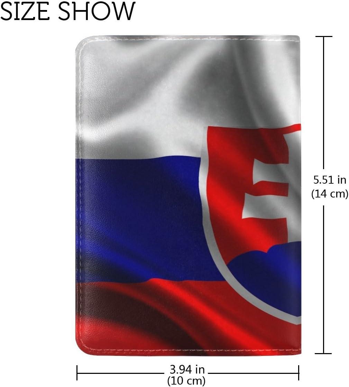 Slovakia Satin Flag Leather Passport Holder Cover Case Travel One Pocket
