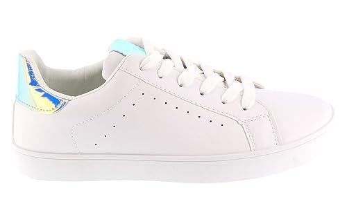 Zapatillas de Baloncesto para Mujer, Color Blanco Plano, cómodas ...