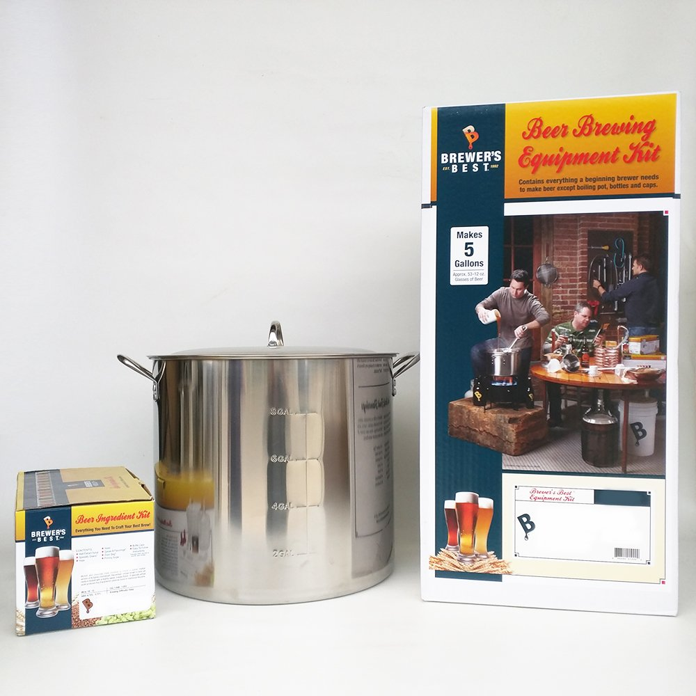 Brewer's Best Deluxe Equipment Kit (w/ Better Bottle) with Session IPA Beer Ingredient Kit and 42 Qt Stainless Steel Brew Kettle