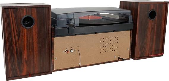 Amazon.com: Boytone BT-28MB, tocadiscos de estilo clásico ...