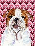 Cheap Caroline's Treasures SS4484CHF Bulldog English Hearts Love Valentine's Day Flag Canvas, Large, Multicolor