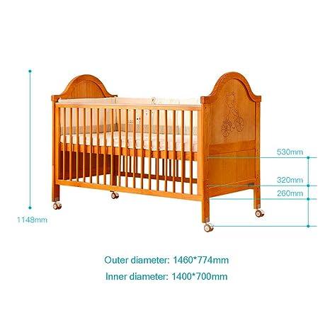 WDXIN Cunas Madera Maciza Multifuncional Cama de Empalme Estilo Europeo Materiales de Seguridad y protección del Medio Ambiente Adecuado para bebés de 0-8 ...