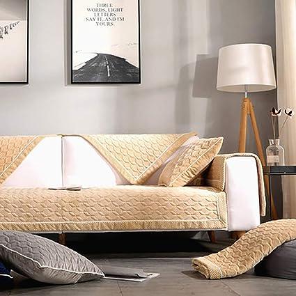 amazon de plusch sofa abdeckung anti rutsch super weich einfache moderne mobel protector bay window