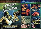 Universal Creatures Monsters Series Wolf Man/Mummy/Phantom Opera/Invisible Man + The Creature of the Black Lagoon DVD 5 Movie Bundle