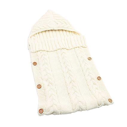 Tookang Saco de Dormir para Bebé Recién Nacido de 0–12 Meses para Bebé Lana