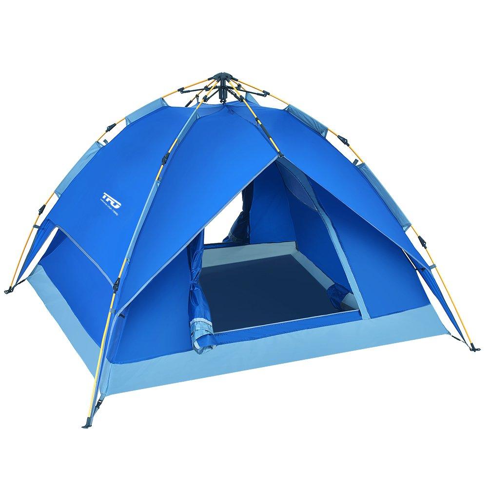 TFO Automatisches Wasserdichtes Kuppelzelt 2-3 Personen mit Tragetasche Jahreszeit für Outdoor Sport, Klettern, Camping