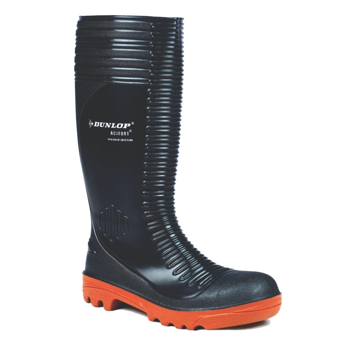 Dunlop Acifort A252931 gerippt Sicherheits-Gummistiefel, Größe Größe Größe 47, Farbe  Schwarz 3e02b1