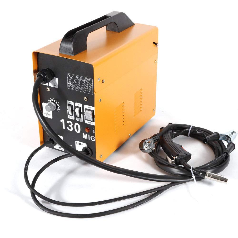 Soldadora MIG - 130 electrodos profesional para electrodos, 120 A, 230 V, inverter de soldadura, protección contra sobrecorriente: Amazon.es: Bricolaje y ...