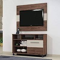 Rack com Painel para TV até 42 Polegadas 1 Porta Fusion Valdemóveis Castanho/Off White