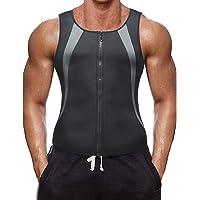 Body-Shaper, gewichtsverlies, sauna-zweet-body shaper voor heren, fitness, zwart