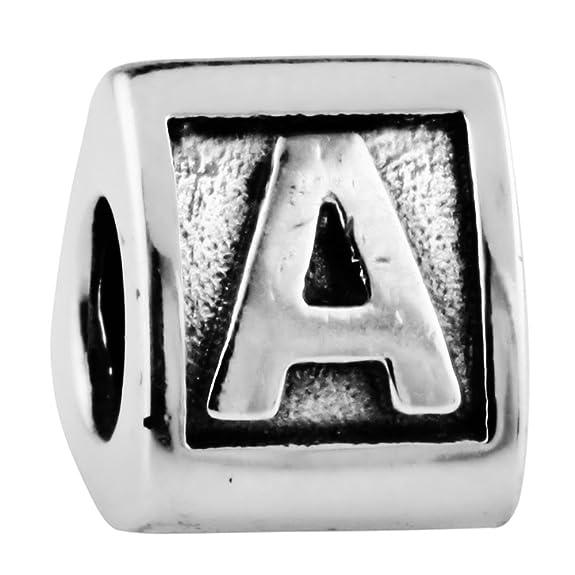 6 opinioni per TAOTAOHAS antico numero alfabeto sterling 925 argento charms beads perline [