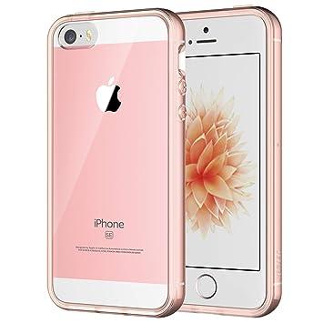 JETech Funda para iPhone SE, iPhone 5s y iPhone 5, Carcasa Anti-Choques/Arañazos, Oro Rosa