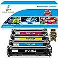 True Image 4 Pack Compatible HP 131X CF210X Toner Cartridge for HP 131A CF210A CF211A CF212A CF213A for HP LaserJet Pro 200 color M251nw M251 M251n MFP M276 M276n M276nw Canon MF8280Cw Black Printer