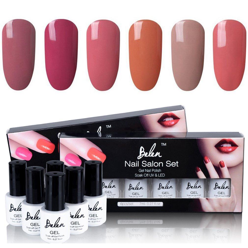 UV nagellack set von Belen 6 Farbe von Farbwechseln thermo Farbe soak off nail art , 6x 7ML BAILUN