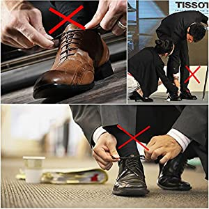 Coolnice No Tie Dress Shoe Laces for Men and Women, Silicone Waxed Thin Oxford Round Elastic Shoelaces (Black&Brown-Mix) 2 Pack (Color: Black&Brown-2 Pack, Tamaño: adult)