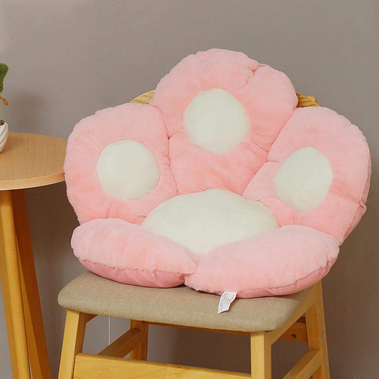 Cute Seat Cushion,Seat Pad,Cat Paw Shape Lazy Sofa Office Chair Cushion, Kawaii Plush Floor Mat Seat Cushions for Dining Room Chairs (Pink, 24×28×3.9in) (Pink, 24×28×3.9in)