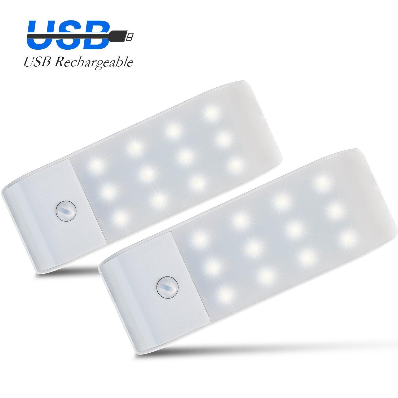 HogarTech pcs Luces de Noche LED LED Sensores PIR de Movimiento Lámpara