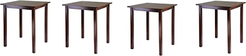 Winsome Wood Parkland Dining, Walnut Pack of 4