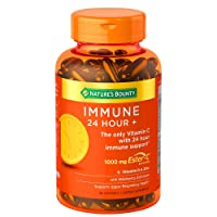 Nature's Bounty Immune 24 Hour +, 24 Hour Immune Support from Ester C, 100 Rapid Release Softgels, 100 Count