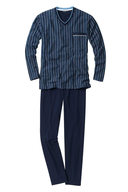Götzburg Pyjama Stamford navy S bis 2XL Doppelpack