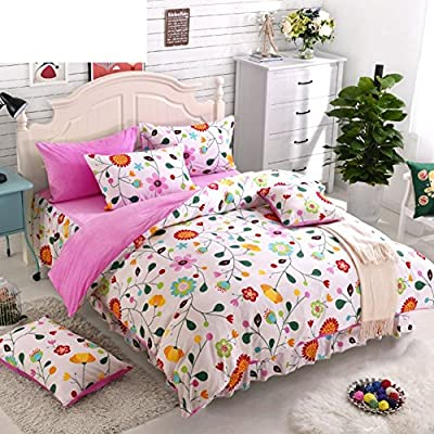 DACHUI Bed sheets - Coral Fleece 1800 beds fade, stain resistant - Hypoallergenic - 4 units (2) - C Queen Bed Skirt Cartoon