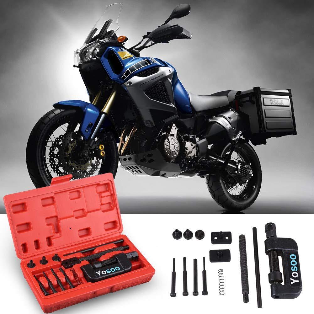 Sega catena Strumento Rivettatrice per moto catene,Smagliacatena per motocicletta Catena della bicicletta del motociclo Splitter//Breaker Riveting Tool Kit