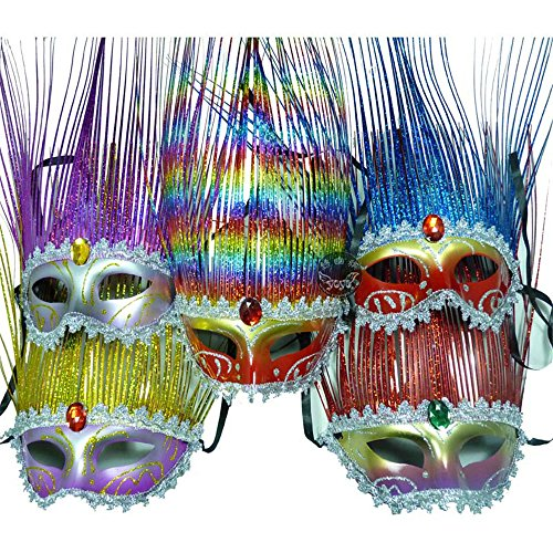 [Venetian Costume Party Masquerade Halloween Masks] (Halloween Costumes With Mask)