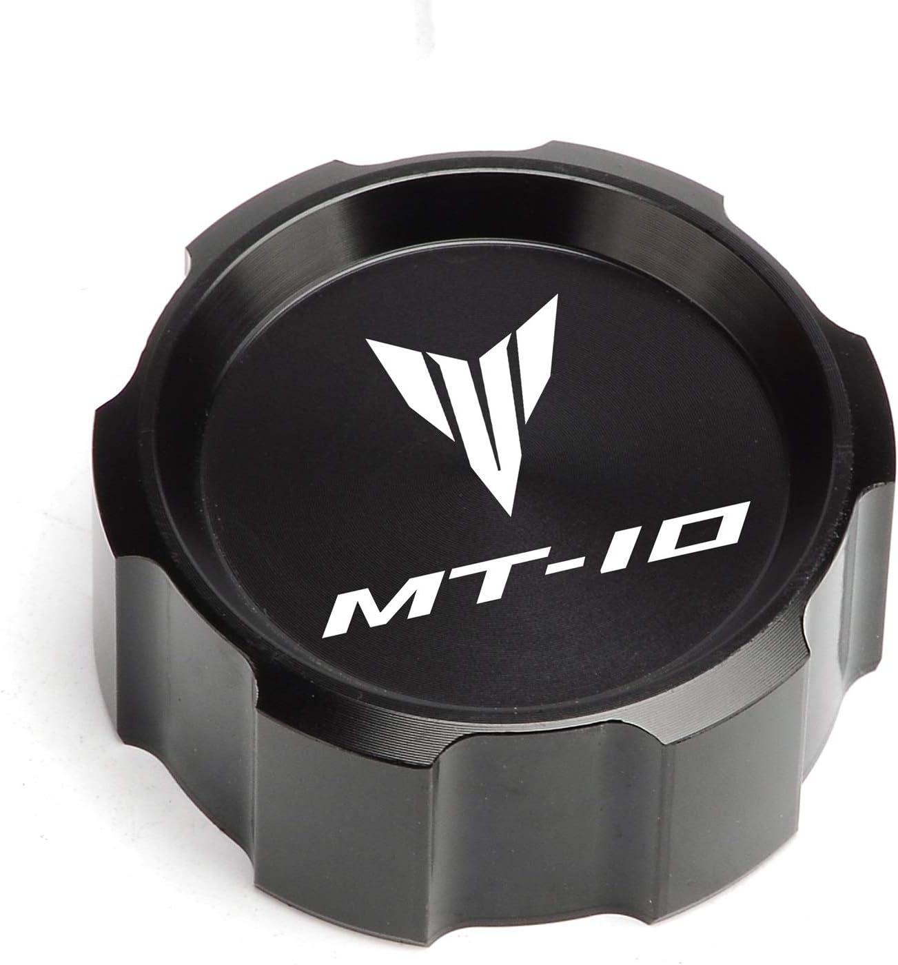 Color : Front and Rear black High Ratings For YAMAHA MT10 MT-10 mt10 2015-2017 2018 2019 Motor Front /& Rear brake Fluid Cylinder Master Reservoir Cover Cap