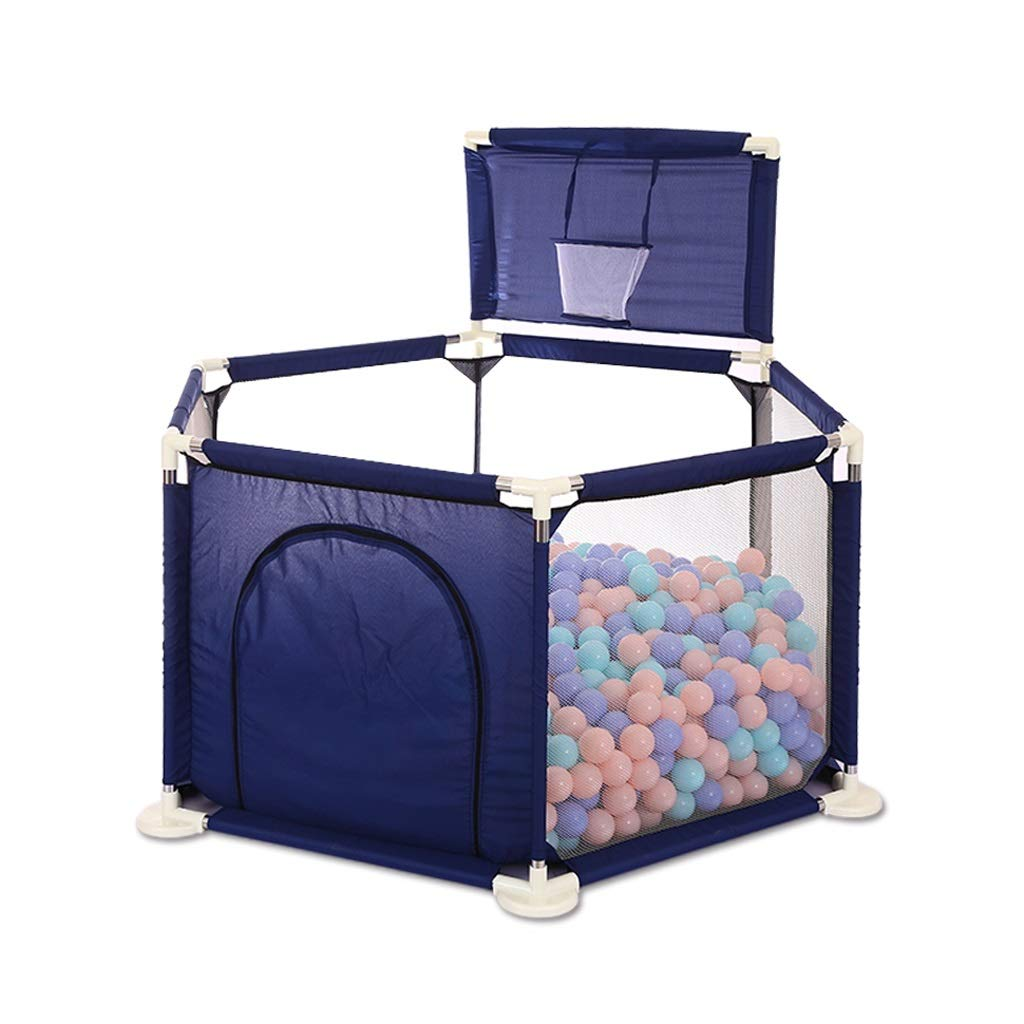 LIUFS-フェンス 子供用プレイフェンスクロールマットフェンス安全フェンスホーム屋内遊び場 (色 : Blue+Ocean ball*200++crawling mat)  Blue+Ocean ball*200++crawling mat B07MSFHM1Y