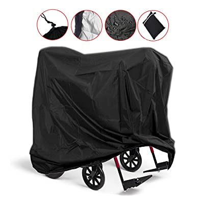 Mobility Scooter Storage Cover, Wheelchair Storage Cover Waterproof Lightweight Rain Protector from Dust Dirt Snow Rain Sun Rays - 55 x 26 x 36 inch (L x W x H): Automotive