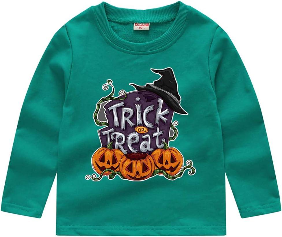 TOPBIGGER Boys T-Shirt Tops Kids Sweatshirt 3D Halloween Printed T-Shirt Crewneck Shirt Long Sleeve Unisex Tee Sweatshirt Casual Basic Pullover 12M-5Y