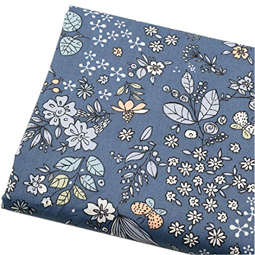Fabric Meters Grey Navy Flower Plaid Stripes Cotton Fabrics For Clothes Dresses Sewing Pillows Blanket Doll Cloth Diy Meterial 7 ()