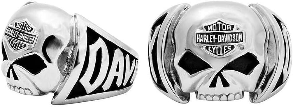 Harley-Davidson Men's Skull Ring Stainless Steel HSR0004