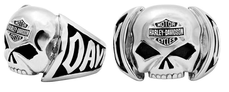Amazoncom HarleyDavidson Mens Skull Ring Stainless Steel HSR0004