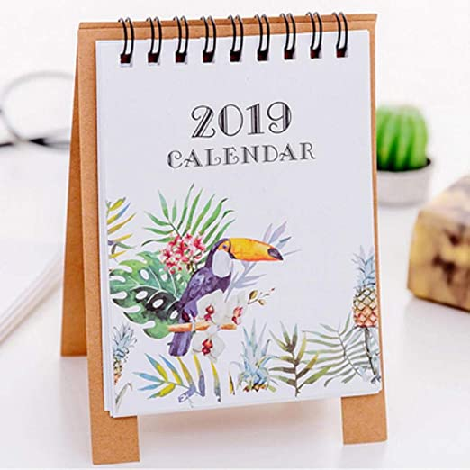Grea 2019 Cute Cartoon Animals Series Mini Calendarios de Mesa ...