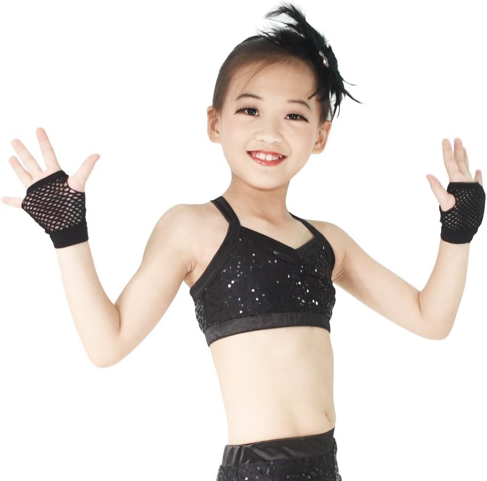 Apple Green MiDee Fishnet Neon Short Fingerless Gloves For Jazz Dance Performance