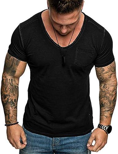 Berimaterry Camiseta Hombre Militares Camisetas Deporte Ropa Deportiva Camisa de Manga Corta de Camuflaje Slim fit para Hombres Tops Blusa Camisetas Hombre Manga Corta Moda Personalidad: Amazon.es: Ropa y accesorios