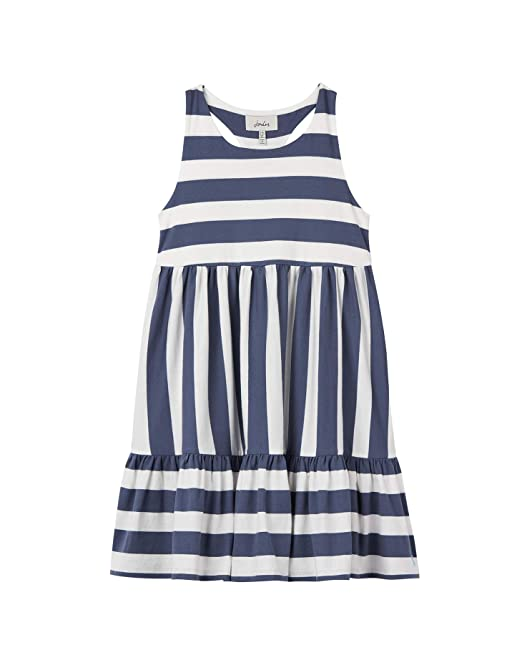 cebf96384d68 Joules Juno Peplum Midi Dress - Cream Blue Stripe - 3 Years - 98 cm