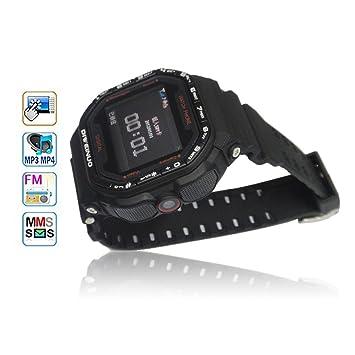 Flylinktech Negro Gd930 Pantalla táctil Reloj de Pulsera teléfono Celular DE 1.5 Pulgadas Bluetooth 1.3 MP