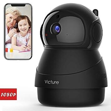 Victure 1080P Cámara IP WiFi,Cámara de Vigilancia FHD con Visión Nocturna,Detección de