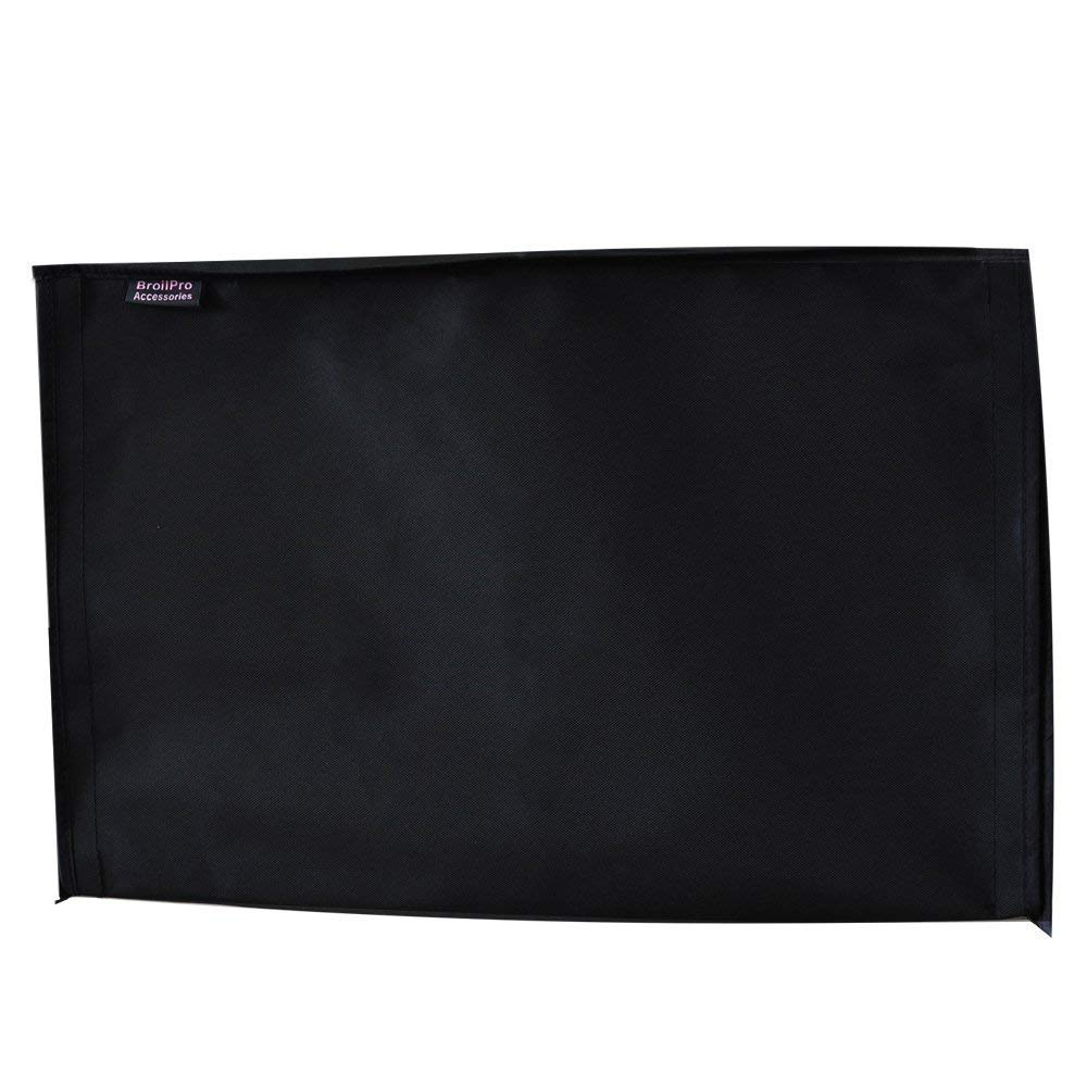 BroilPro Accessories Outdoor 75-78 TV Set Cover,Scratch Resistant Liner Protect LED Screen Best-Compatible with Standard Mounts and Stands Black