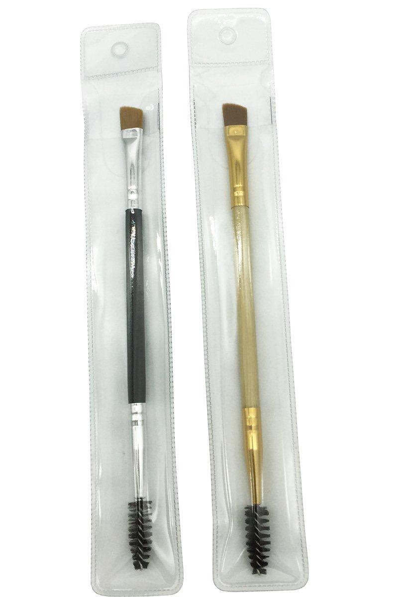 Vôsaidi Duo Eyebrow Brush Eyebrow Brush Angled and Spoolie Brush 2pcs/pack SZDB