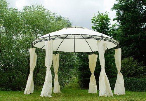 Carpa redonda (Borgoña Pergola pérgolas 3,5 m con cortinas: Amazon ...
