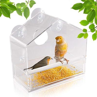 PAWCHIE Window Bird Feeder